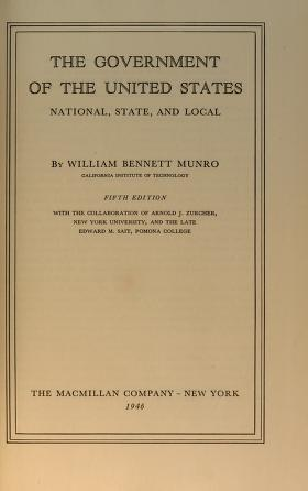 Cover of: The government of the United States | William Henry Bennett